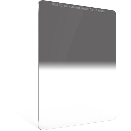 Haida 100 x 150mm Red Diamond Medium-Edge Graduated Neutral Density 0.6 Filter (2-Stop)