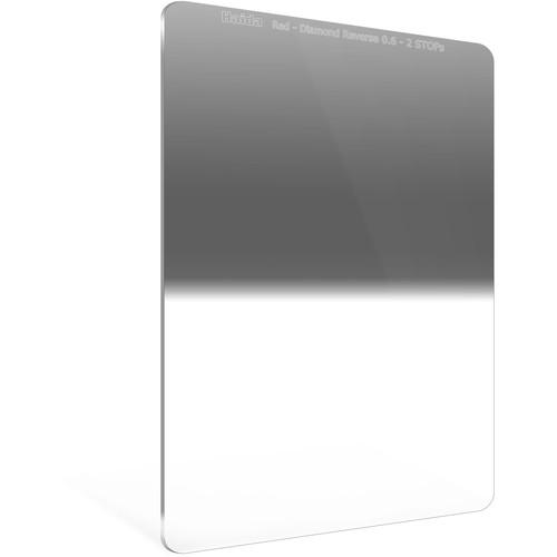 Haida 100 x 150mm Red Diamond Hard-Edge Reverse-Graduated Neutral Density 0.6 to 0.15 Filter (2- to 0.5-Stop)