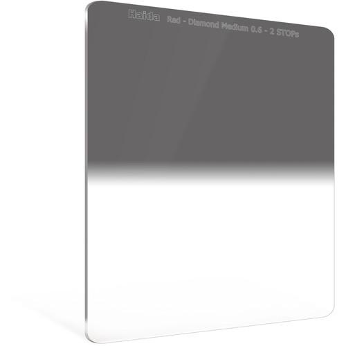 Haida 150 x 170mm Red Diamond Medium-Edge Graduated Neutral Density 0.6 Filter (2-Stop)