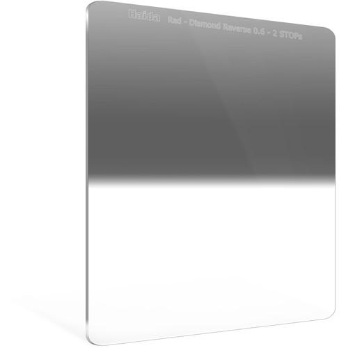 Haida 150 x 170mm Red Diamond Hard-Edge Reverse-Graduated Neutral Density 0.6 to 0.15 Filter (2- to 0.5-Stop)