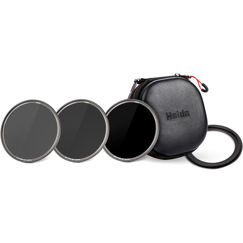 Haida ND8/ND64/ND1000 with Step Ring and Tortoise Case (72-77mm)