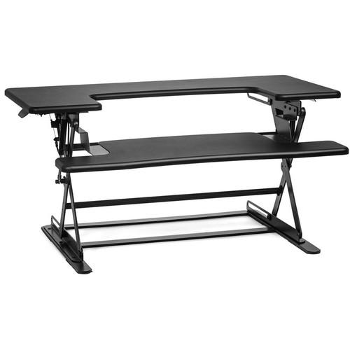 Halter ED-600 Height Adjustable Desk Sit / Stand Desktop (Black)