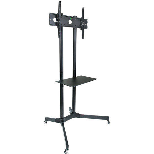 Halter Rolling TV Trolley Cart Mount with Adjustable Shelf for 30 to 65'' LED/LCD TV & Monitors