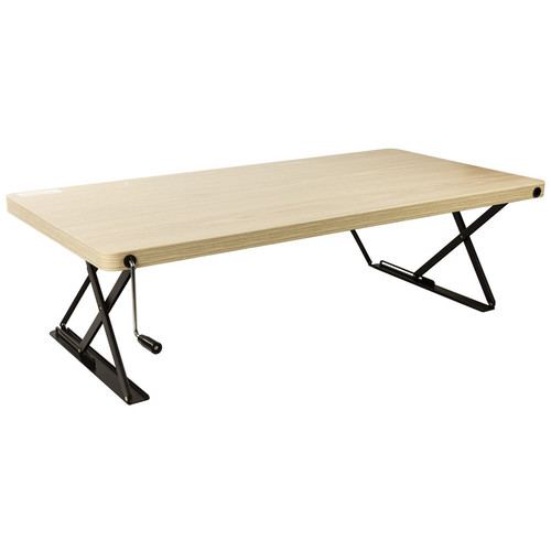 Halter Manual Adjustable-Height Table Top Desk (Tan)