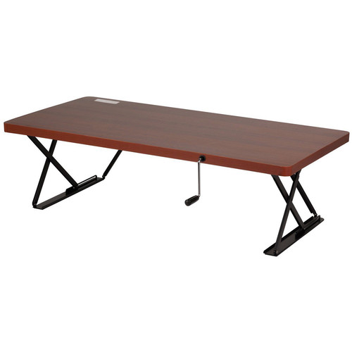 Manual Adjustable Height Table Top Desk Cherry 99 99