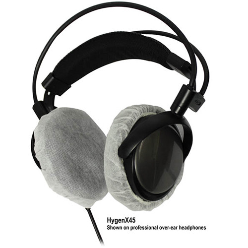 HamiltonBuhl HYGENX45 HygenX Sanitary Headphone Covers for Over-Ear Headsets (50 Pair)