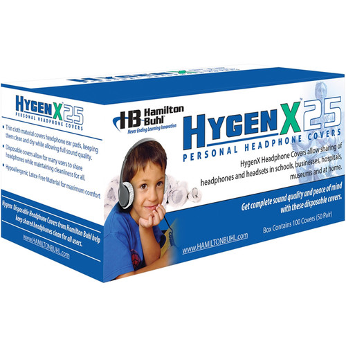 "HamiltonBuhl HygenX 2.5"" Disposable Sanitary Ear Cushion Covers for On-Ear Headphones and Headsets (Black, 600 Pairs)"