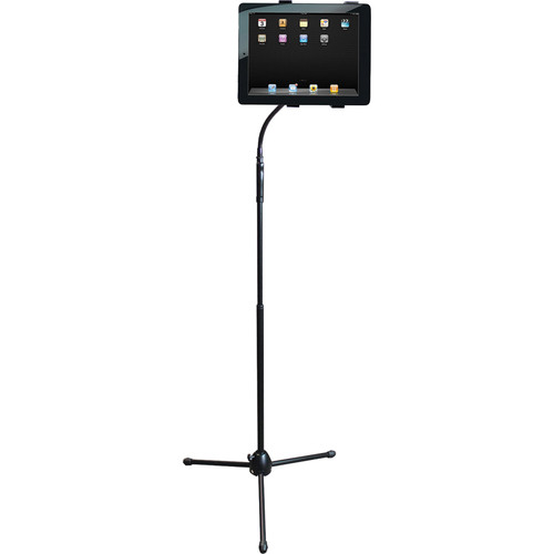 "HamiltonBuhl Adjustable Gooseneck Tablet Floor Stand (59"")"