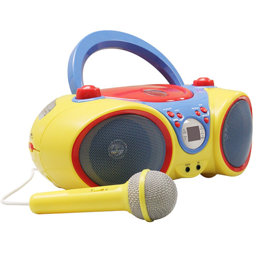 HamiltonBuhl Kids Audio CD Player and Karaoke Machine