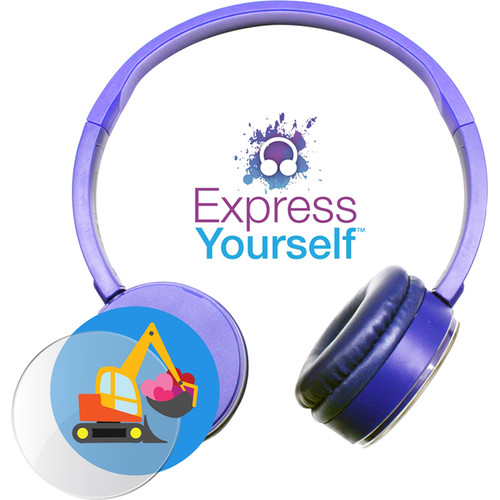 HamiltonBuhl Express Yourself Headphone for Children (Blue)