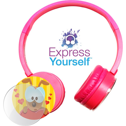 HamiltonBuhl Express Yourself Headphone for Children (Pink)