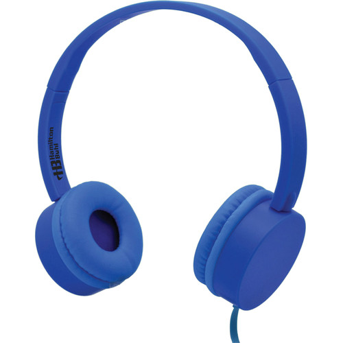 HamiltonBuhl KidzPhonz Headphone with In-Line Microphone (Blue)