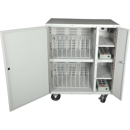 HamiltonBuhl LTCC20 20-Bay Stackable Charging Cart for 20 iPad/Laptop Computer