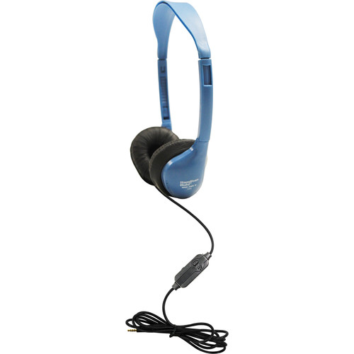 HamiltonBuhl SchoolMate iCompatible Personal Headset with In-Line Microphone & Volume Control (Light Blue)