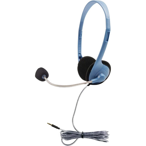 HamiltonBuhl MS2G-AMV Personal Headset with Gooseneck Microphone and 3.5mm TRRS Plug (Light Blue)