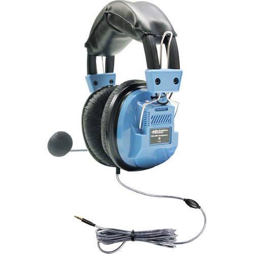 HamiltonBuhl SCG-AMV Deluxe Headset with Goose Neck Microphone and TRRS Plug