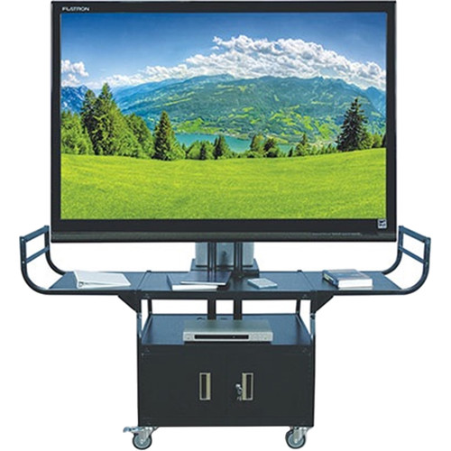 HamiltonBuhl Rolling Metal Cart for Flat Panel TVs up to 80""