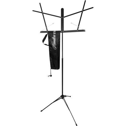 Hamilton Stands KB200 Automatic Clutch Folding Music Stand with Carrying Bag