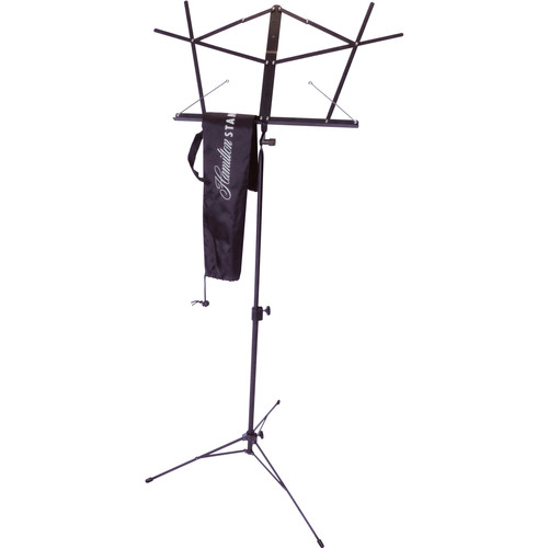Hamilton Stands KB900 Deluxe Folding Sheet Music Stand (Black Powder Coat)