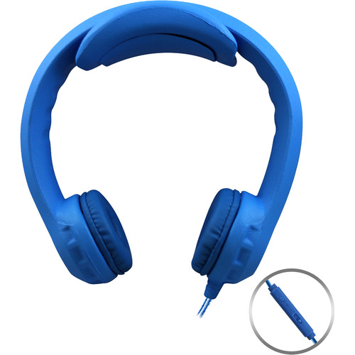 HamiltonBuhl Flex-PhonesXL On-Ear Headphones for Teens with In-Line Microphone (Blue)