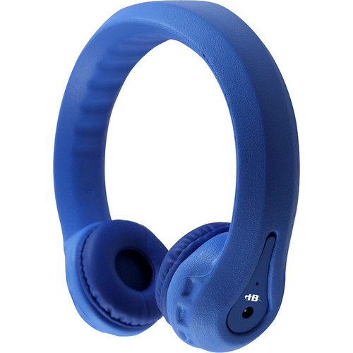 HamiltonBuhl Flex-Phones FM Wireless Dual-Channel Kids Headphones (Blue)