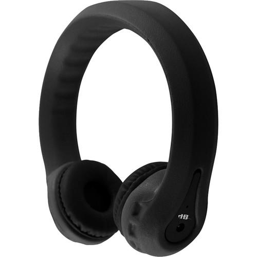 HamiltonBuhl Flex-Phones FM Wireless Dual-Channel Kids Headphones (Black)
