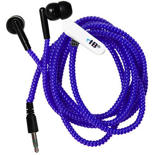 HamiltonBuhl Skooob Tangle-Free Silicone In-Ear Headphones (Blue)