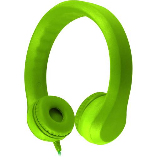 HamiltonBuhl Flex-Phones Foam Headphones for Children (Green)