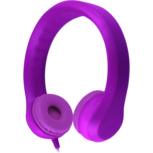 HamiltonBuhl Flex-Phones Foam Headphones for Children (Purple)