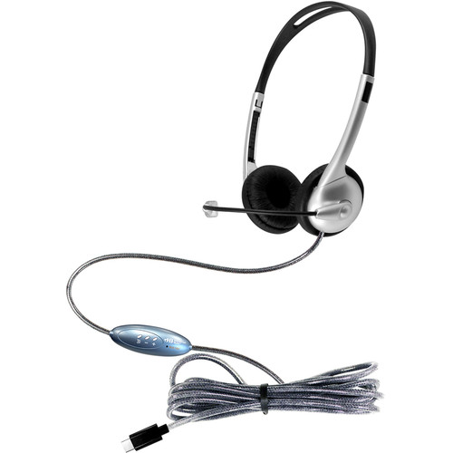 HamiltonBuhl MACH-1 Multimedia USB Type -C Headset with Gooseneck Microphone