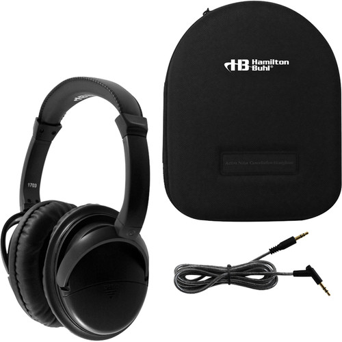 HamiltonBuhl Deluxe Active Noise-Cancelling Headphones with Case