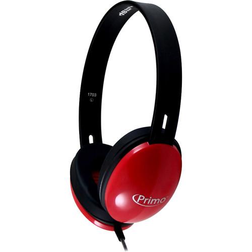 HamiltonBuhl Primo Stereo Headphones (Red)
