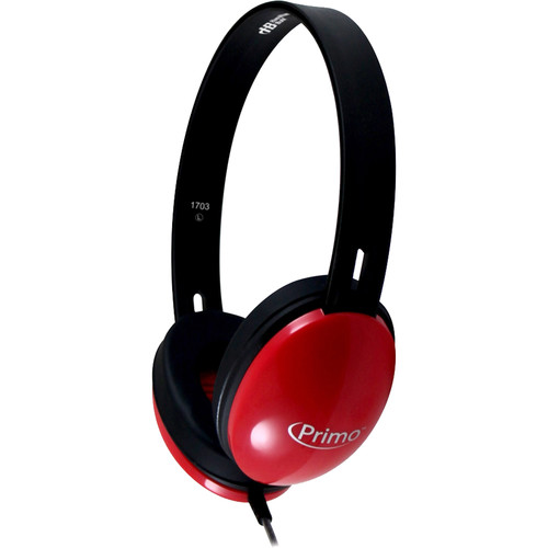 HamiltonBuhl Primo Stereo Headphones (Red)