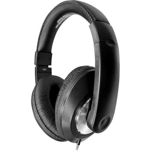 HamiltonBuhl Smart-Trek Deluxe Stereo Headphones with In-Line Volume Control and 3.5mm TRS Plug