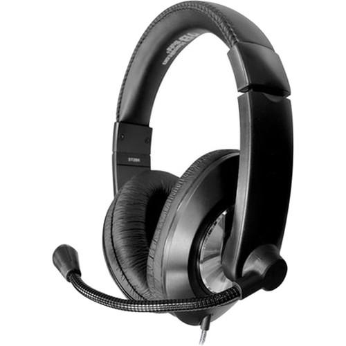 HamiltonBuhl Smart-Trek Deluxe Stereo Headset : In-Line Volume Control, USB Plug, Noise Canceling Mic(Black)