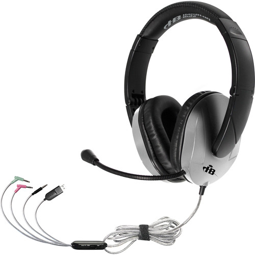 HamiltonBuhl TriosPlus Multimedia Headset with Steel-Reinforced Gooseneck Microphone