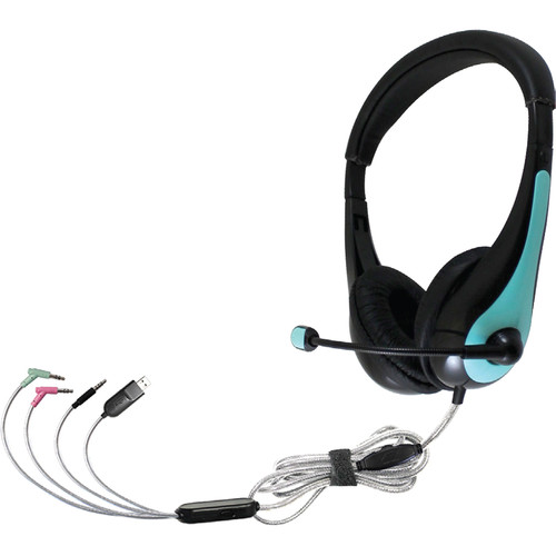 HamiltonBuhl TriosAir Plus Personal Multimedia Headset with Gooseneck Microphone