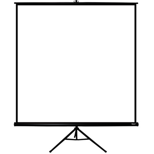 "HamiltonBuhl TPS-T80BLK 80 x 80"" Tripod Projection Screen"