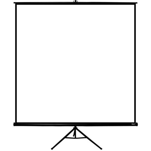 "HamiltonBuhl TPS-T96BLK 96 x 96"" Tripod Projection Screen"