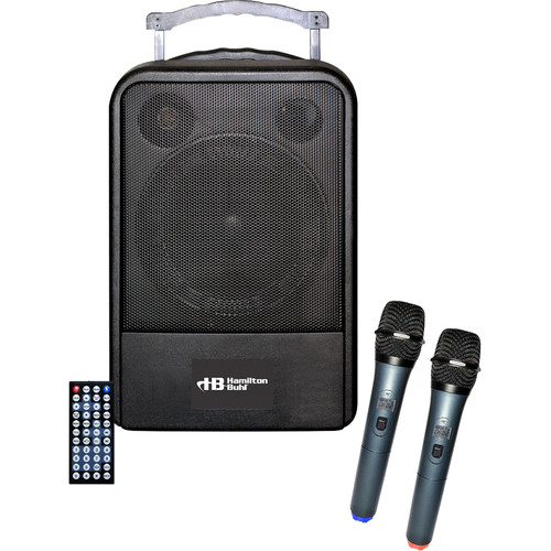 HamiltonBuhl PA System DVD/CD/MP3 BT with Wireless Microphones