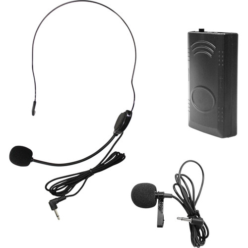 HamiltonBuhl Venu100 Belt Pack with Lapel Microphone & Head-Worn Microphone (208.5 MHz)