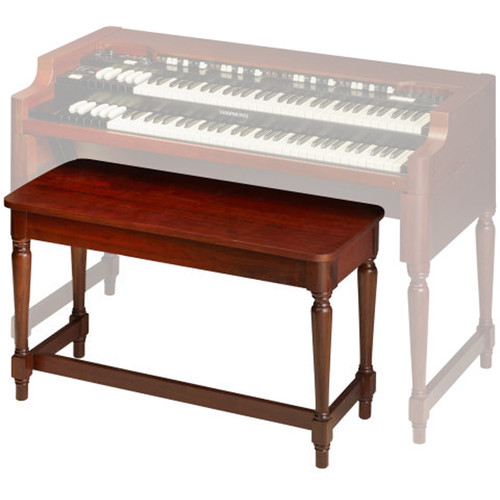 Hammond Model A3 Wood Spindle-Leg Bench (Red Walnut)