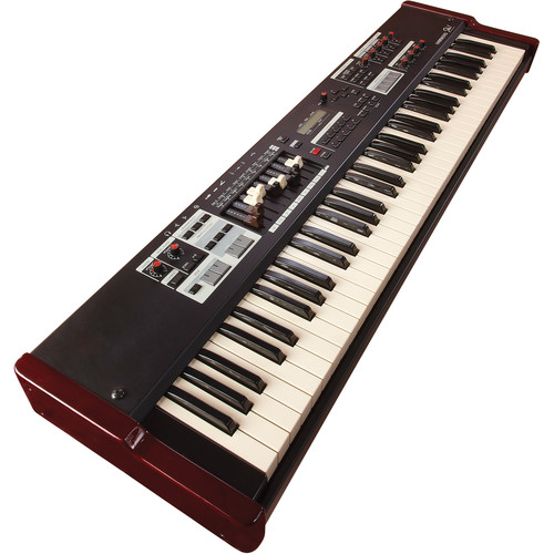 Hammond Sk1-73 - Portable Hammond Organ and Stage Keyboard (Burgundy/Black)