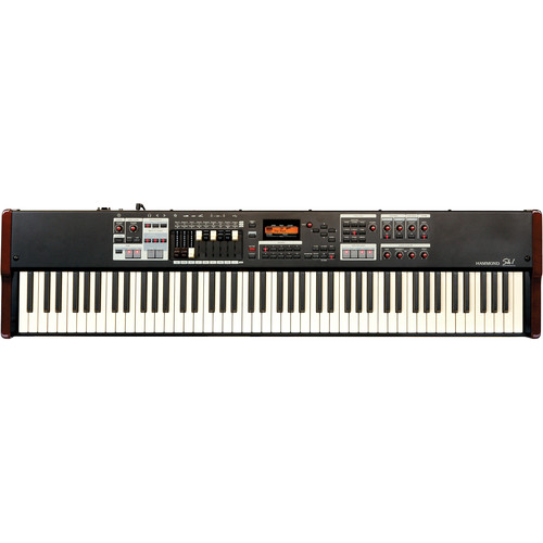 Hammond Sk1-88 - Portable Hammond Organ and Stage Keyboard (Burgundy/Black)
