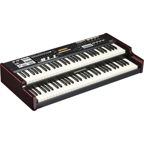 Hammond Sk2 - Portable Hammond Organ and Stage Keyboard (Burgundy/Black)