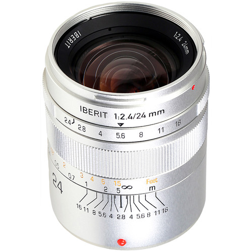 Handevision IBERIT 24mm f/2.4 Lens for Fujifilm X (Silver)