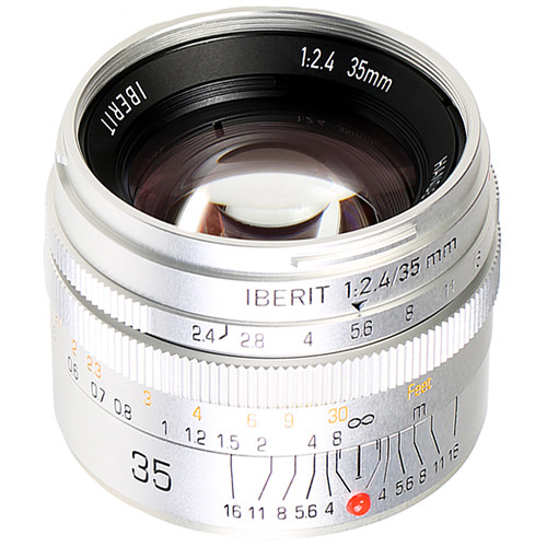 Handevision IBERIT 35mm f/2.4 Lens for Fujifilm X (Silver)