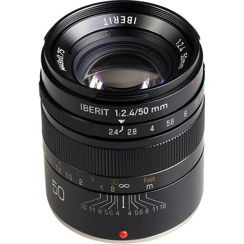 Handevision IBERIT 50mm f/2.4 Lens for Fujifilm X (Black)