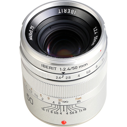 Handevision IBERIT 50mm f/2.4 Lens for Fujifilm X (Silver)