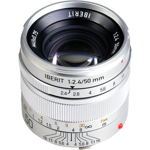Handevision IBERIT 50mm f/2.4 Lens for Leica M (Silver)